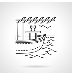 Romantic leisure flat line icon vector