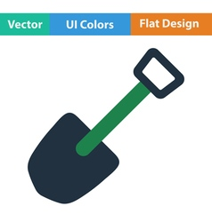 Flat design icon of camping shovel vector