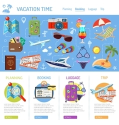 Vacation and tourism infographics vector