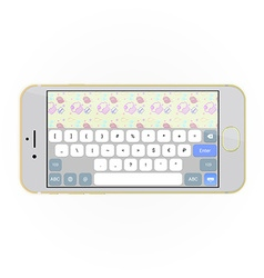 Realistic smartphone with keyboard on screen in vector image