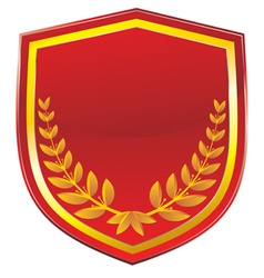 Olive wreath shield vector