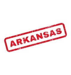Arkansas text rubber stamp vector