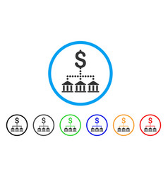 bank scheme rounded icon vector image vector image