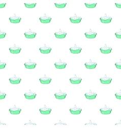 Bath for baby pattern cartoon style vector