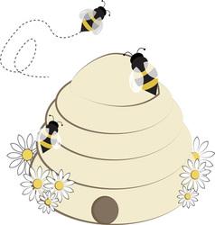 Bee hive vector