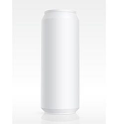 blank aluminum can vector image