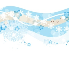 Blue winter and Christmas background vector image vector image