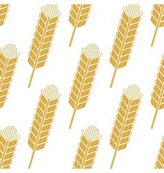 Cartoon cereal wheat or barley spikes seamless vector