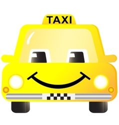 cartoon smiling taxi car vector image