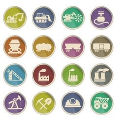 Factory and industry icons vector