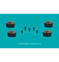 flat of a corporate hierarchy structure a crowd of vector image