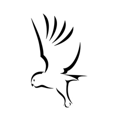 Flying Owl vector image vector image