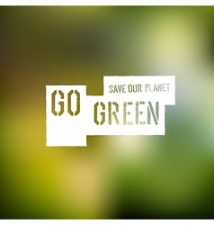 Go green mesh vector
