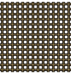 Golden grill Geometric pattern vector image