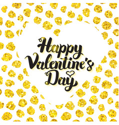 happy valentines day hand drawn card vector image