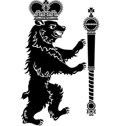 Heraldic bear full height vector