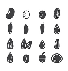 Nut and seed icon vector