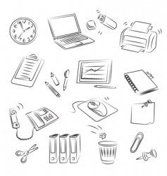office set vector image vector image
