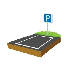 Parking lot icon cartoon style vector image vector image