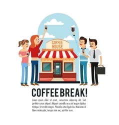 People coffee break shop icon graphic vector