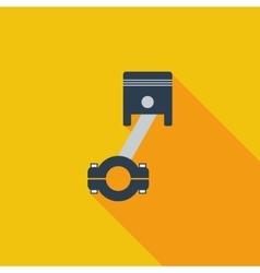 Piston single icon vector image vector image