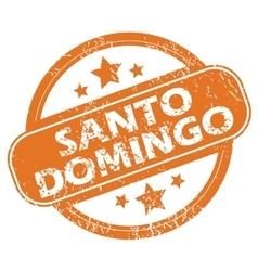 Santo domingo round stamp vector