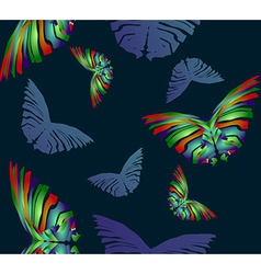 Seamless Butterfly Pattern1 vector image vector image