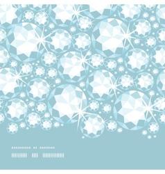 Shiny diamonds horizontal border seamless pattern vector