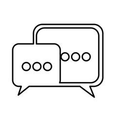 Square chat bubbles icon vector