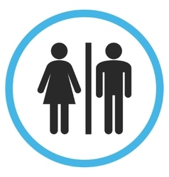 Wc persons flat rounded icon vector