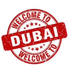 Welcome to dubai vector