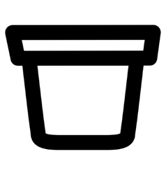 Pail stroke icon vector