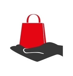 Bag shop purchase hand vector
