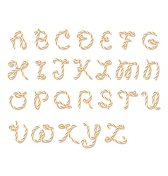 Bakers twine alphabet vector image