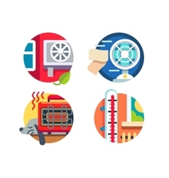 Climate control icons vector