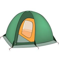 Green tent vector image