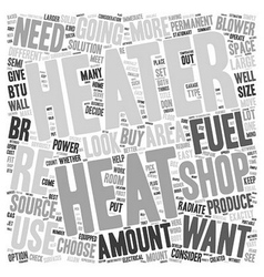 How to choose a shop heater text background vector