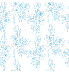 seamless floral pattern texture with lilies on vector image