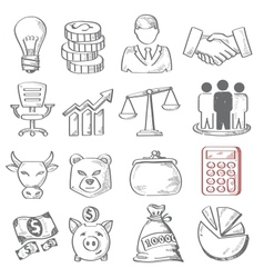 Hand draw business vector