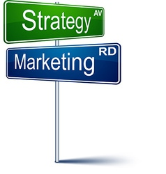 Marketing-strategy direction sign vector