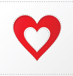 Heart cutout poster vector