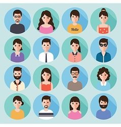 People flat design icon set vector