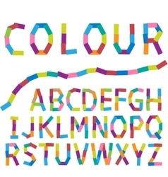 Colour alphabet vector