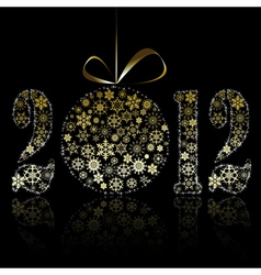 new year 2012 symbol vector image