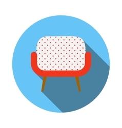 Retro armchair icon flat style vector image