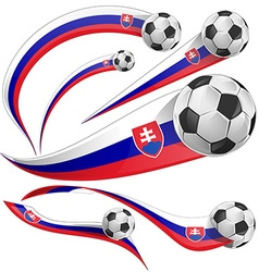 Slovakia flag with soccer ball vector