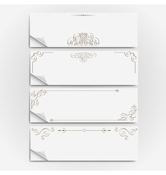 White paper banners vector