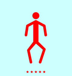 A man with crooked legs it is icon vector