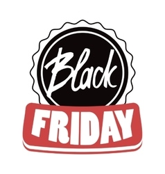 Black friday modern design badge sales vector