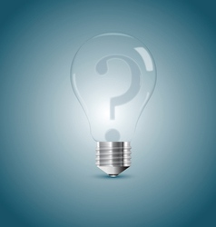 Bulb lamp with question sign inside vector